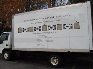 Acton Community Food Bank truck