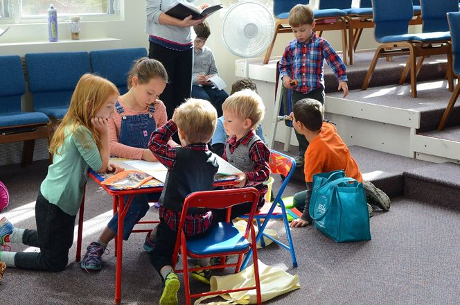 Photo: Kids' Corner in the Sanctuary