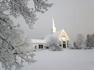 Photo: church in the winter